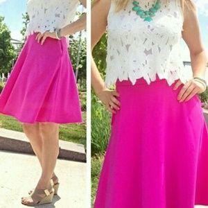 Cynthia Rowley Hot Pink Skirt SZ S